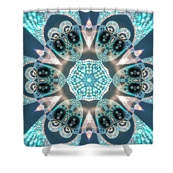 Shower Curtain featuring the digital art Jyoti Ahau 59 by Robert Thalmeier