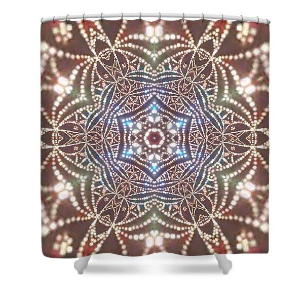 Shower Curtain featuring the digital art Jyoti Ahau 6 by Robert Thalmeier