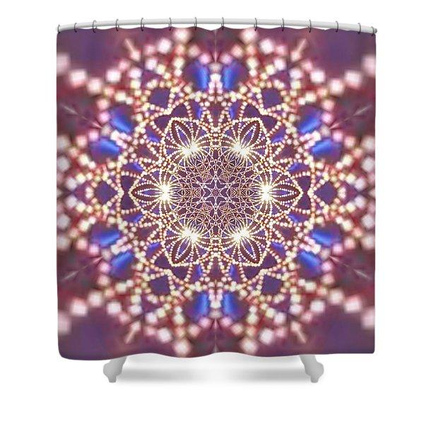 Shower Curtain featuring the digital art Jyoti Ahau 7 by Robert Thalmeier