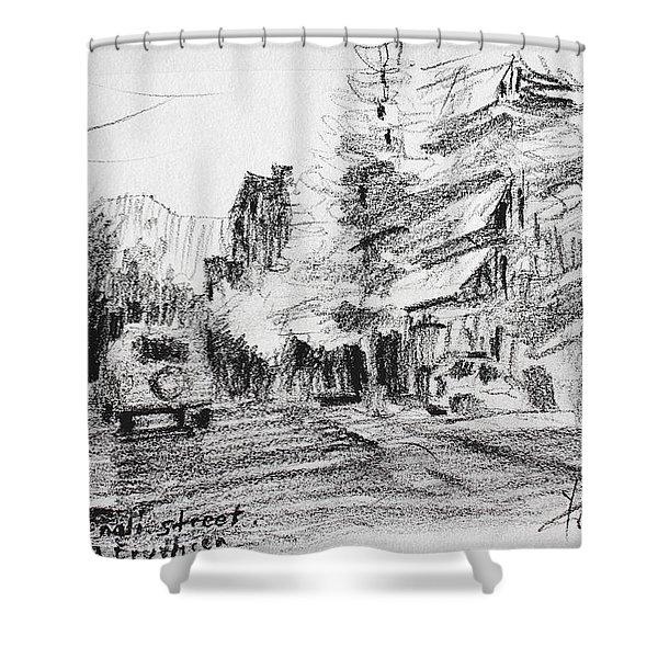 K Varnali Street Nea Erythraia  Shower Curtain
