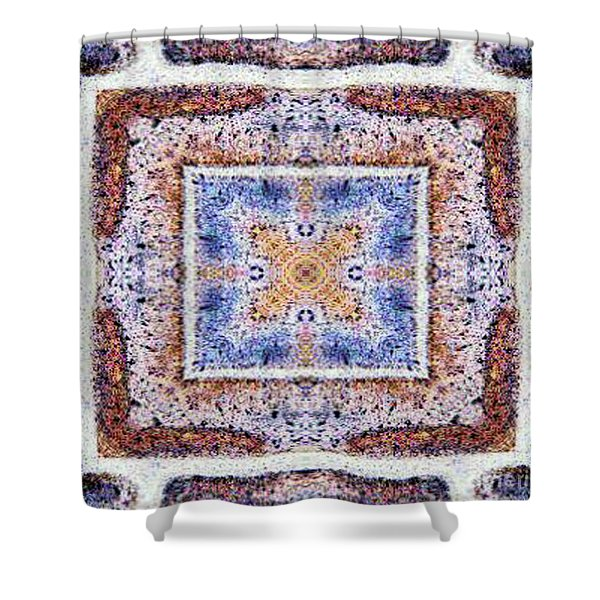 Shower Curtain featuring the mixed media K1 by Writermore Arts