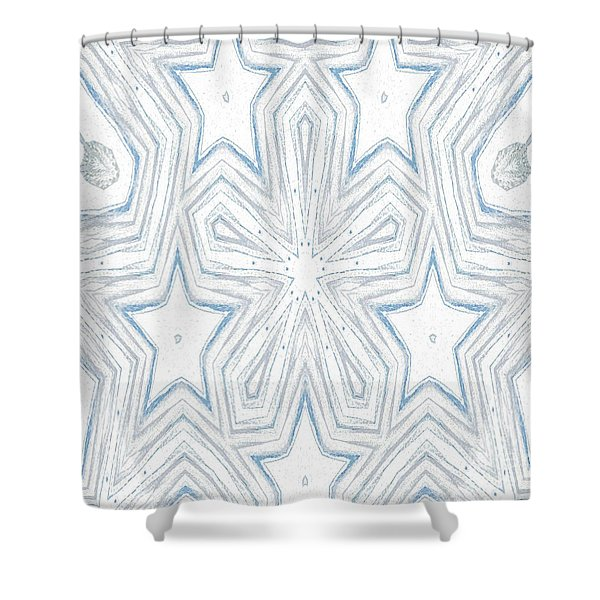 Shower Curtain featuring the mixed media K3 by Writermore Arts