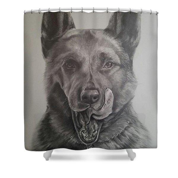 K9  Shower Curtain