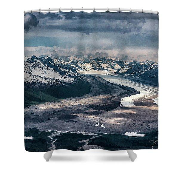 Kahiltna Glacier Shower Curtain