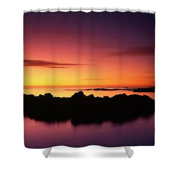 Kaikoura Sunrise, New Zealand. Shower Curtain