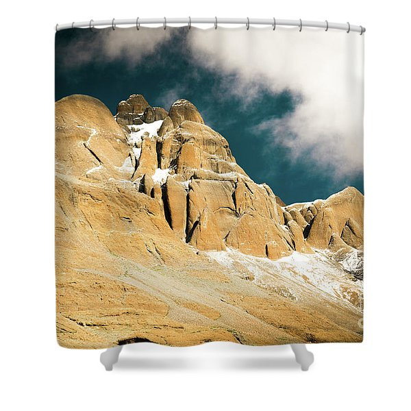 Kailas Kora Himalayas Mountain Tibet Yantra.lv Shower Curtain