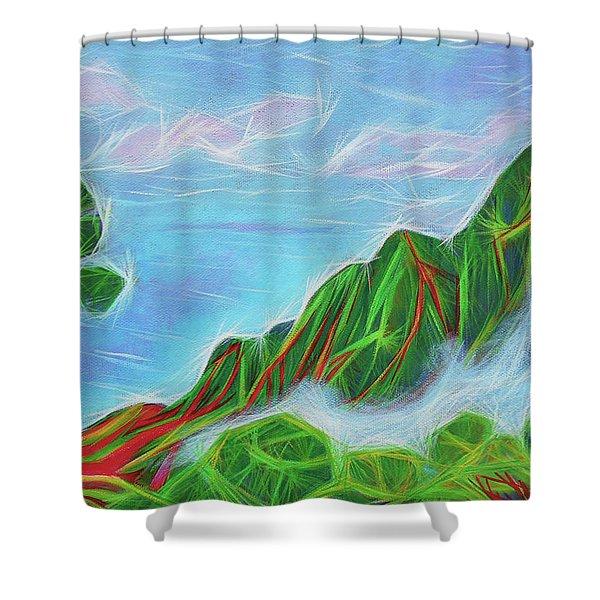 Kalalau Mists Shower Curtain