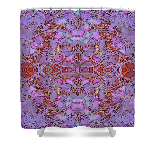 Kaleid Abstract Focus Shower Curtain