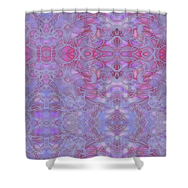 Kaleid Abstract Halo Shower Curtain