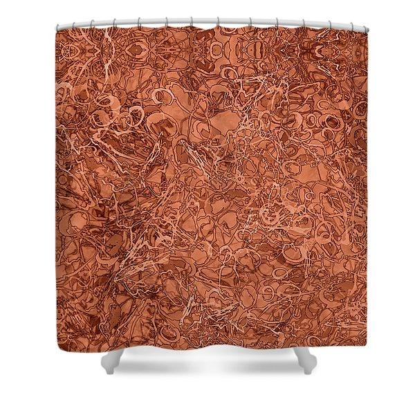 Kaleid Abstract Nest Shower Curtain