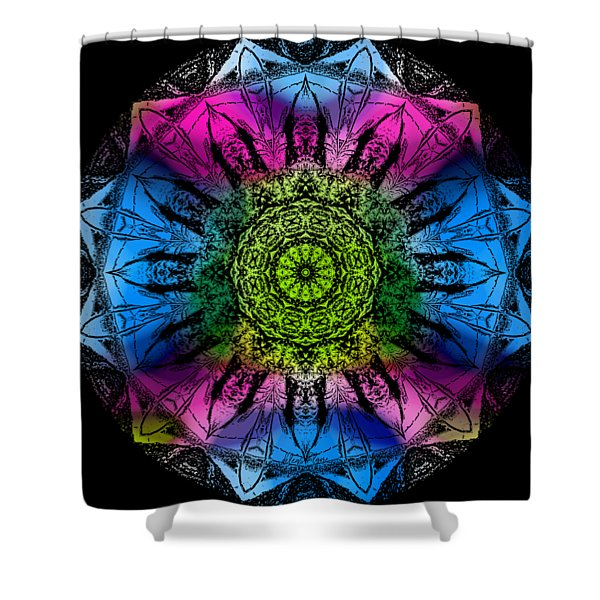 Shower Curtain featuring the digital art Kaleidoscope - Colorful by Deleas Kilgore