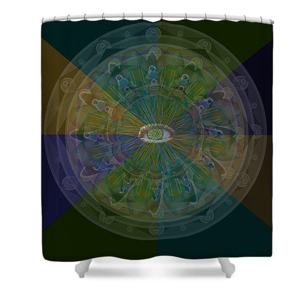 Kaleidoscope Eye Shower Curtain