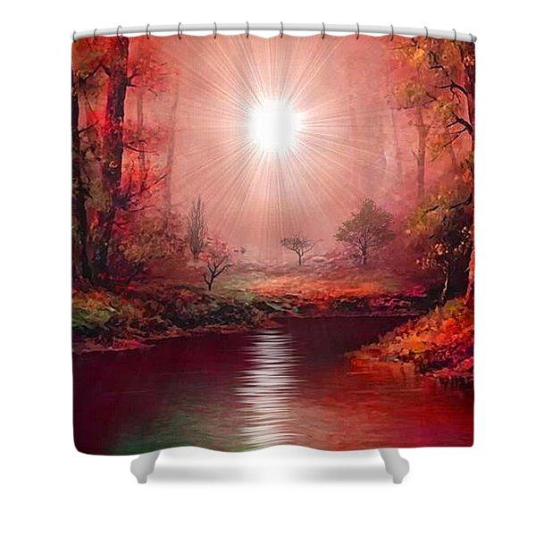 Kaleidoscope Forest Shower Curtain
