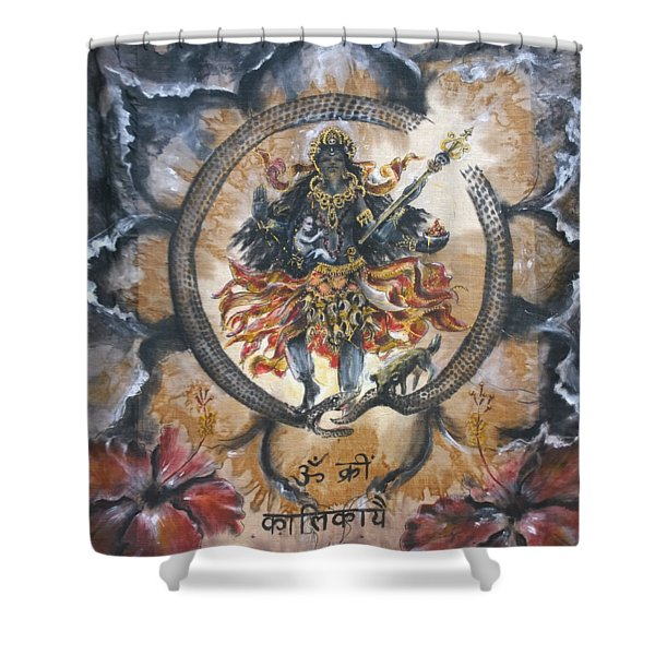 Kali And Ouroboros  Shower Curtain