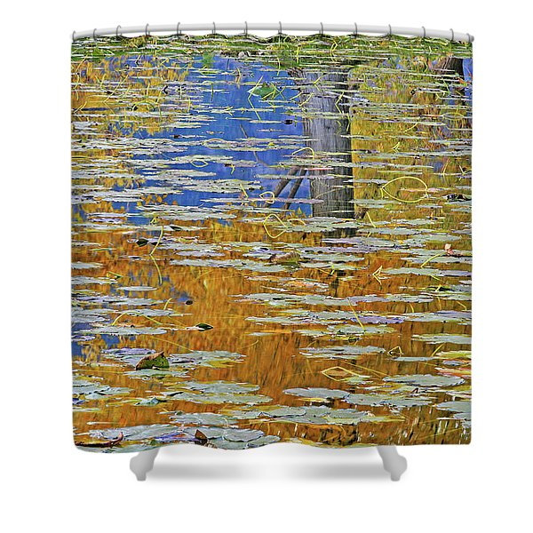Kaloya Pond Autumn Shower Curtain