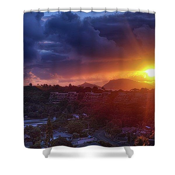 Kaneohe Sunrise Shower Curtain