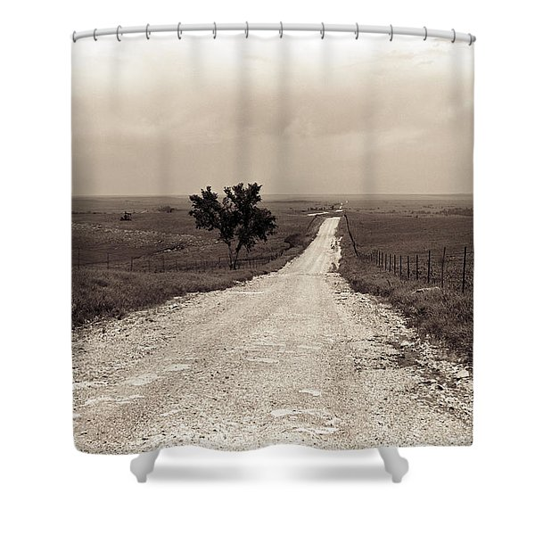 Kansas Country Road Shower Curtain