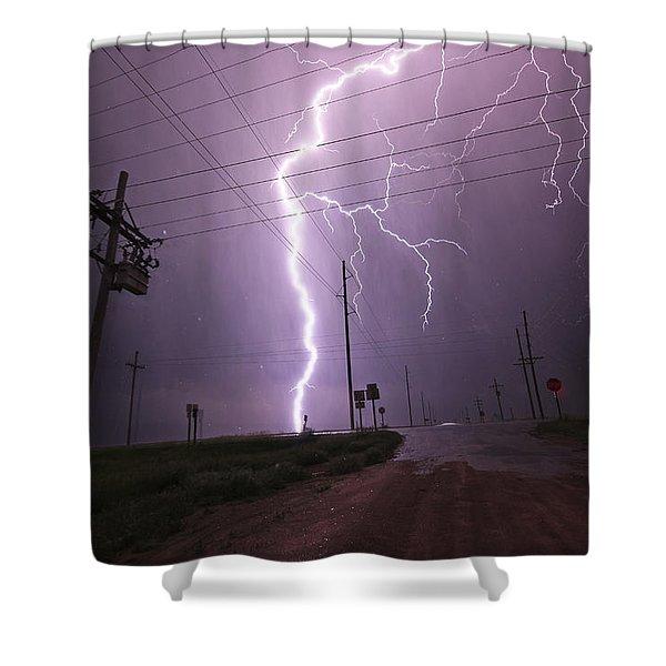 Kansas Lightning Shower Curtain