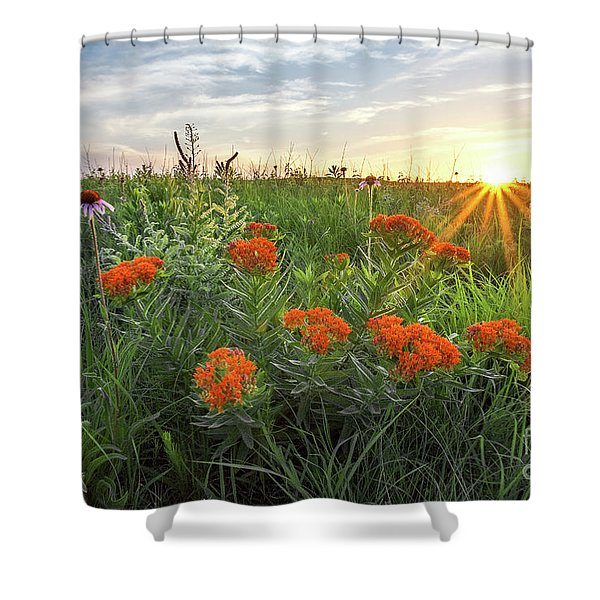 Kansas Native Prairie Shower Curtain