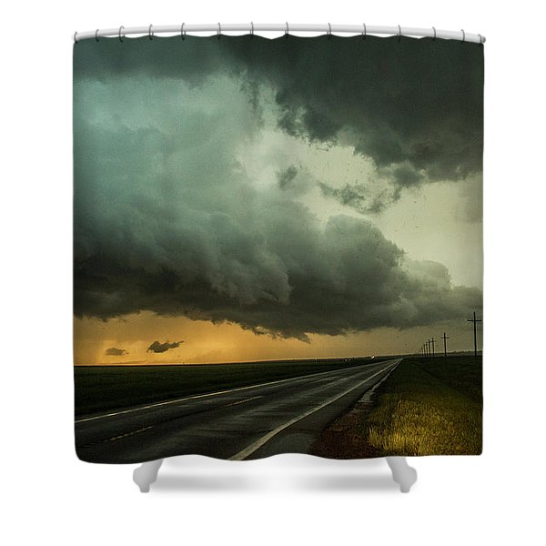 Shower Curtain featuring the photograph Kansas Storm Chase Bust Day 004 by NebraskaSC
