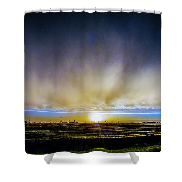 Shower Curtain featuring the photograph Kansas Storm Chase Bust Day 005 by NebraskaSC