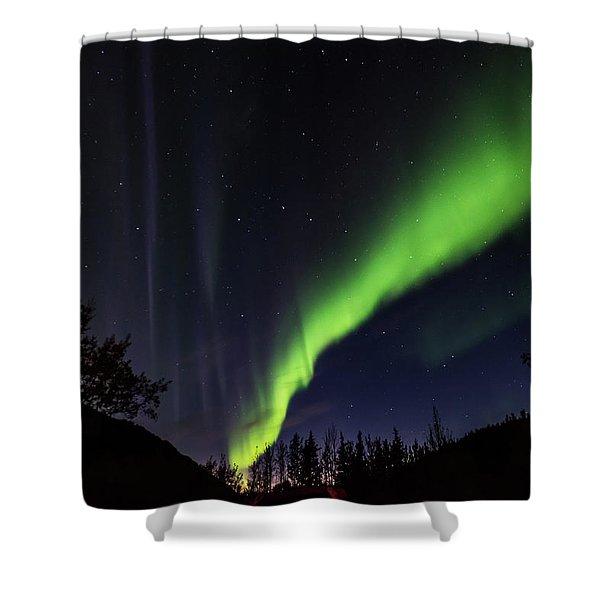 Kantishna Northern Lights In Denali National Park Shower Curtain