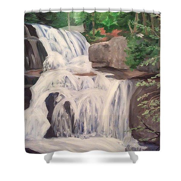 Katahdin Falls Shower Curtain