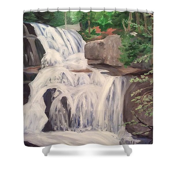 Katahdin Falls Shower Curtain