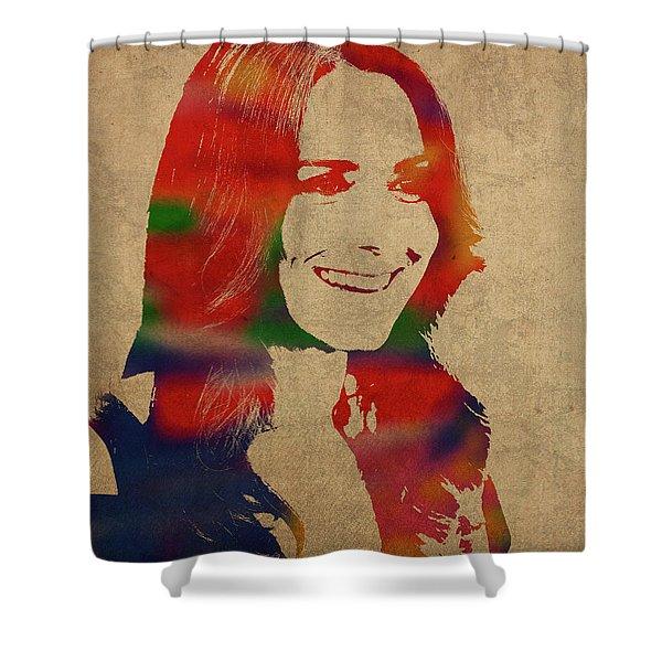 Kate Middleton Watercolor Portrait Shower Curtain