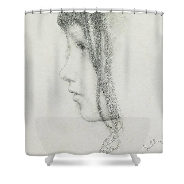 Kate Millet, January 1891 Shower Curtain