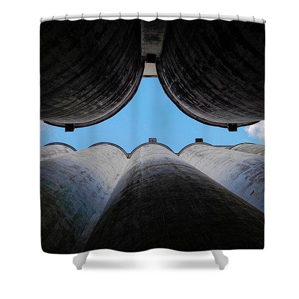 Katy Texas Rice Silos Shower Curtain