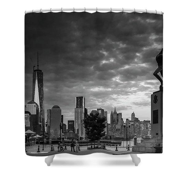 Katyn New World Trade Center In New York Shower Curtain