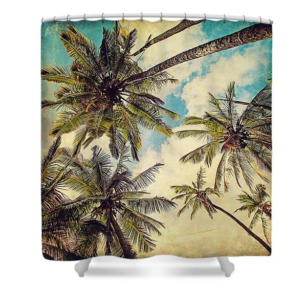 Kauai Island Palms - Blue Hawaii Photography Shower Curtain