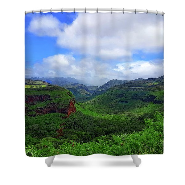 Kauai Mountains Shower Curtain