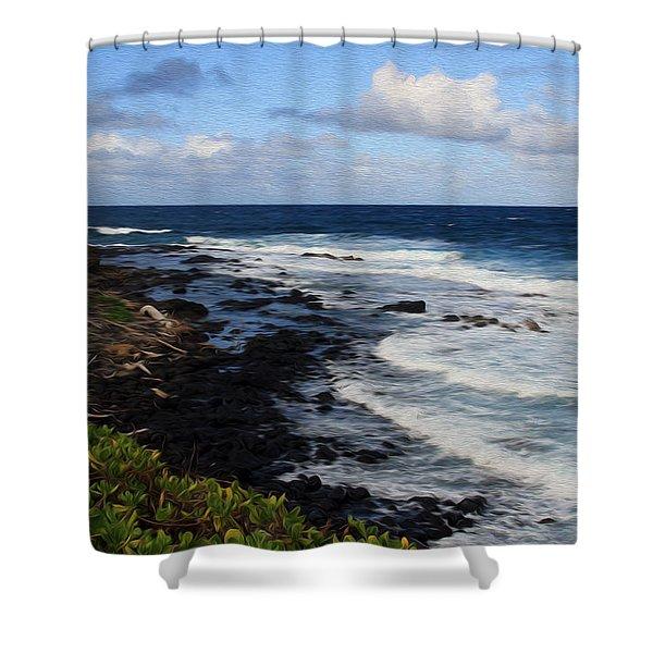 Kauai Shore 1 Shower Curtain