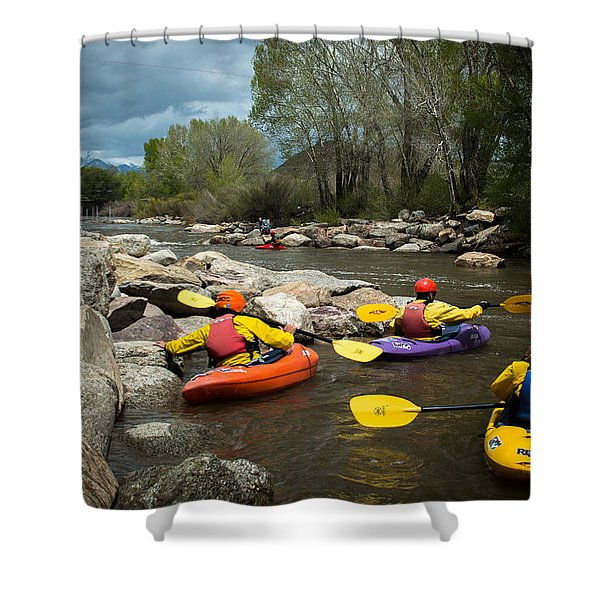 Kayaking Class Shower Curtain