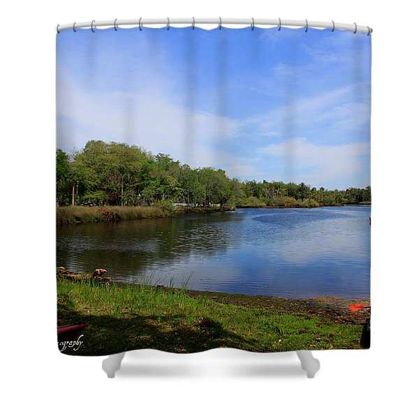 Kayaking The Cotee River Shower Curtain