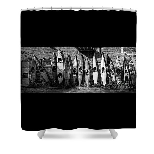 Kayaks And Canoes Shower Curtain