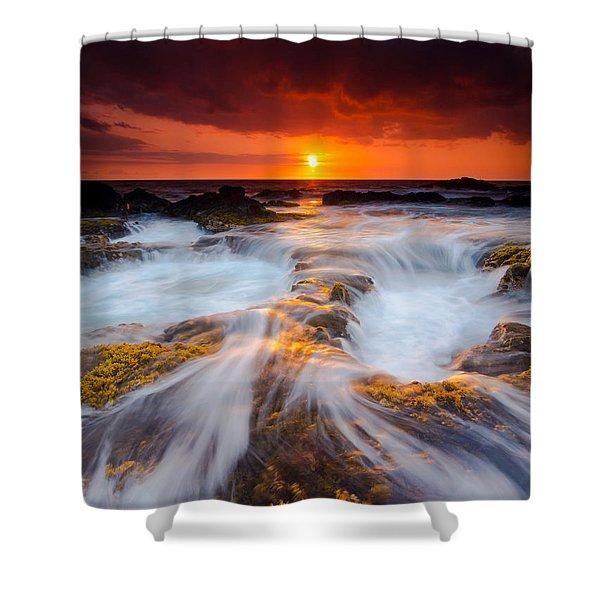 Keahole Point Sunset Shower Curtain
