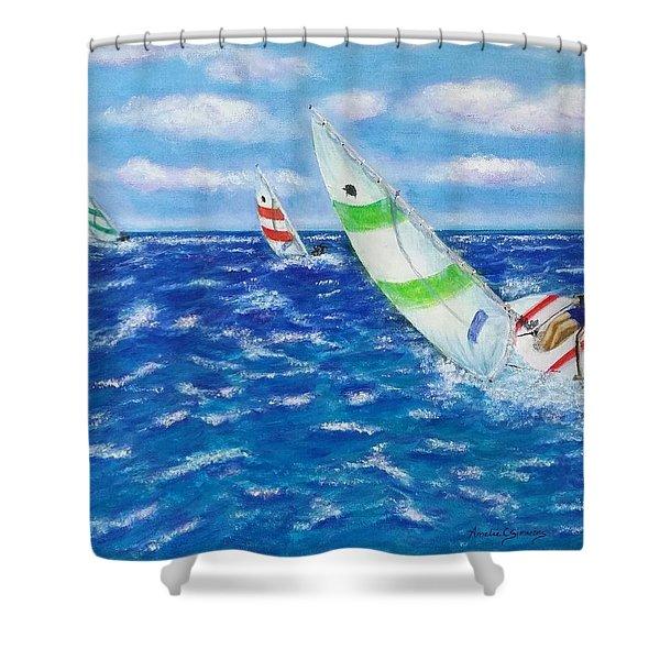 Keeling Shower Curtain