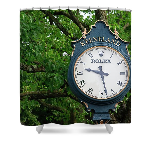 Keeneland Clock Shower Curtain