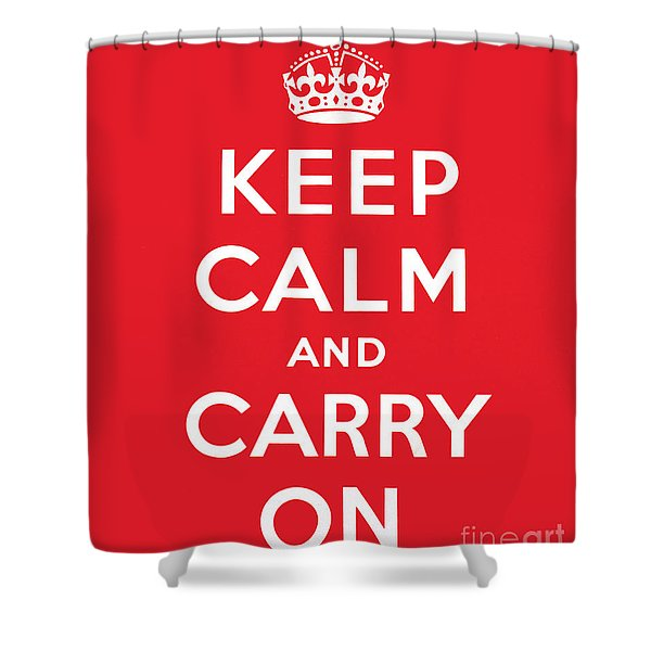 Keep Calm And Carry On Shower Curtain