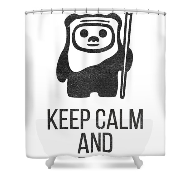 Keep Calm And Yub Nub Shower Curtain