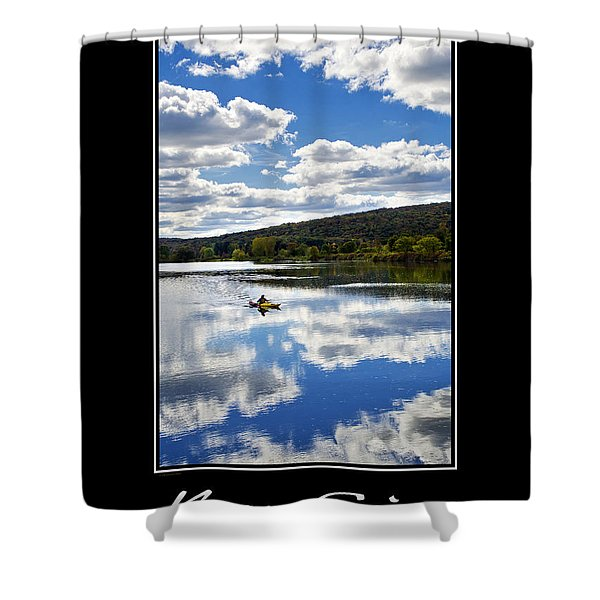 Keep Going Inspirational Poster Shower Curtain