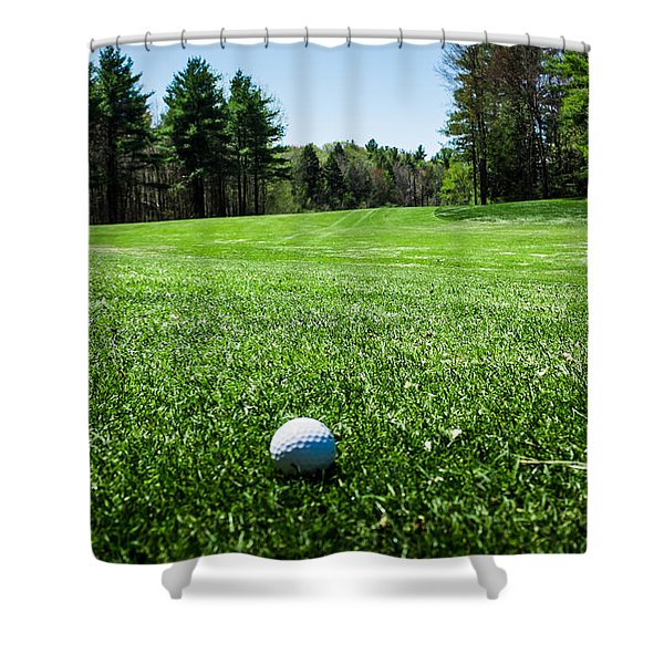 Keep Your Eye On The Ball Shower Curtain