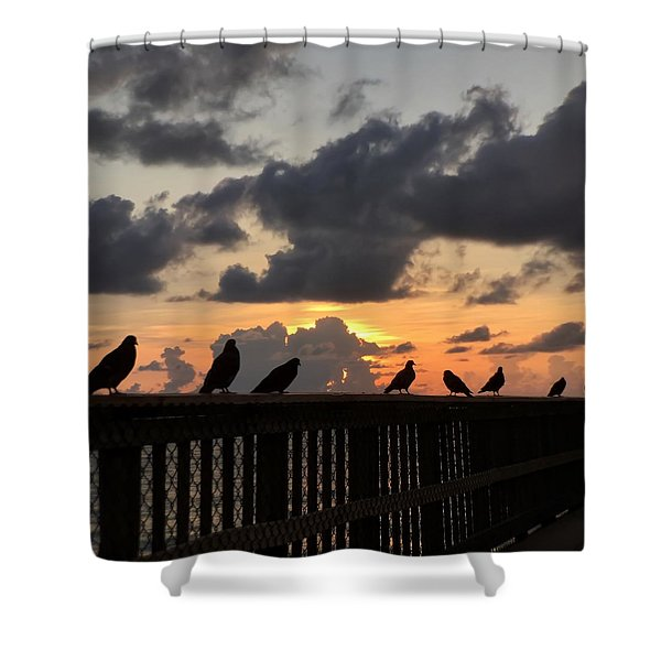 Keeper Of The Pier Shower Curtain