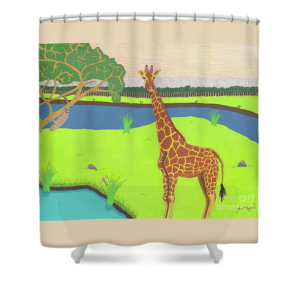 Keeping A Lookout Shower Curtain