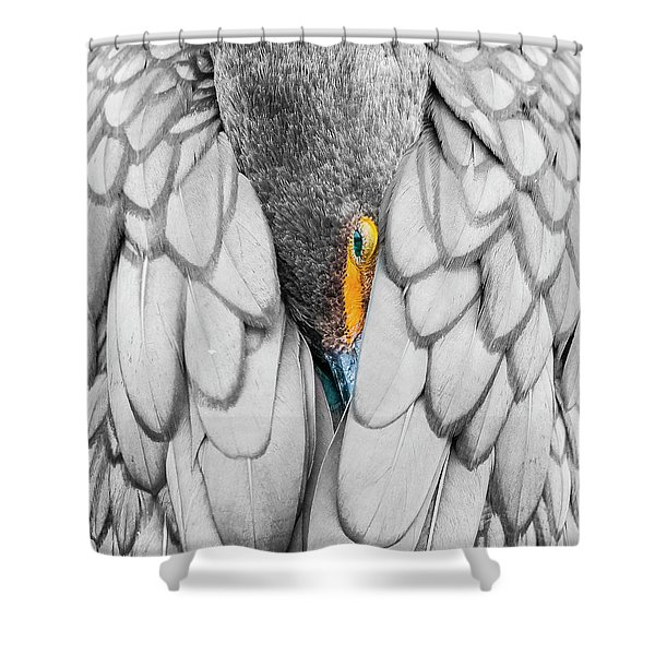 Keeping Warm. Shower Curtain
