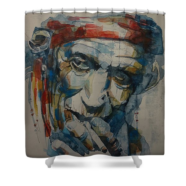 Keith Richards Art Shower Curtain