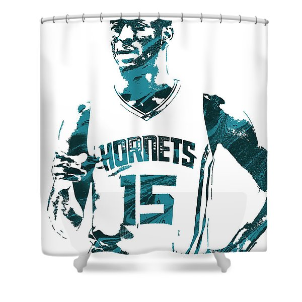 Kemba Walker Charlotte Hornets Pixel Art 4 Shower Curtain